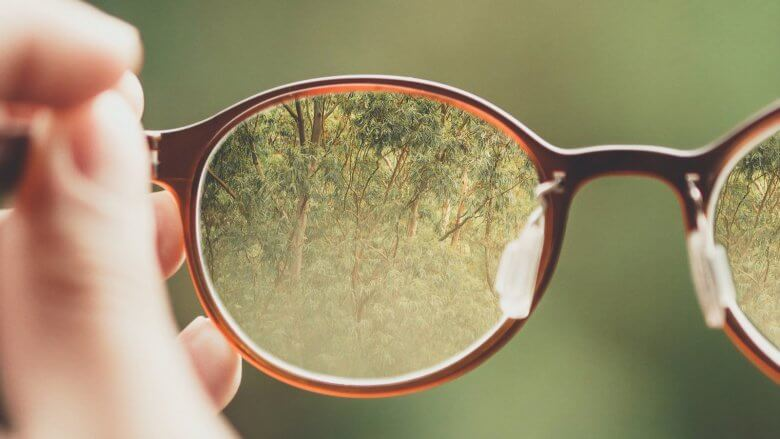 Nature through glasses