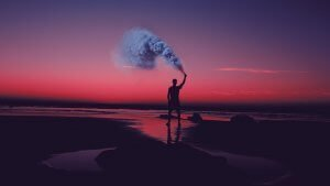 Smoke on beach