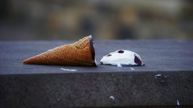 Icecream that fell on the ground